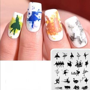 Accessories - Fashion Design Print Stencil Nail Art Stamping